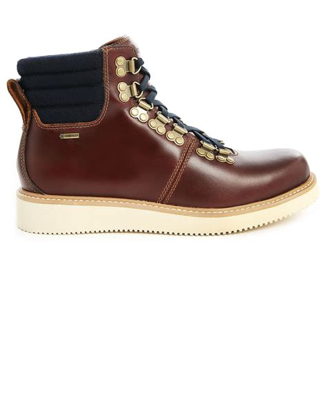 Timberland Leather Brown timberland abington hiker gtx brown leather boots in brown