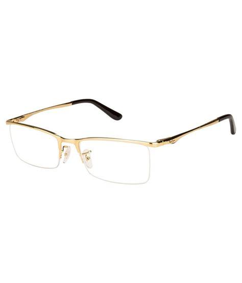 ban golden metal rectangle eyeglasses frame rx6323