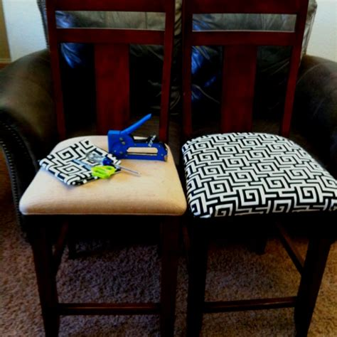 Dining Chair Cushions Recover Before And After Recovering Dining Chair Cushions