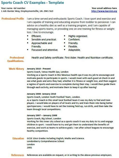 coaching profile template 105 best images about sports coaching on sport