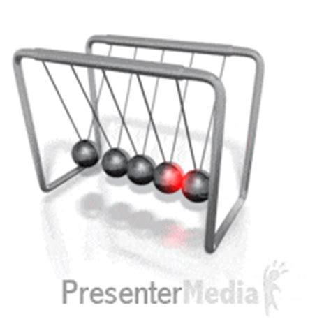 swinging balls pendulum kinetic motion newtons cradle a powerpoint template from