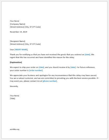 Business Apology Letter Delay Shipment business apology letter delay shipment 28 images sle