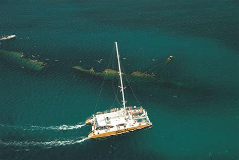 catamaran sailing in aruba sailing snorkelling adventures in aruba with de palm tours