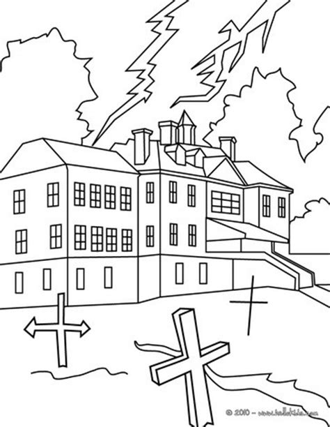 spooky castle coloring page chilling haunted castle coloring pages hellokids com