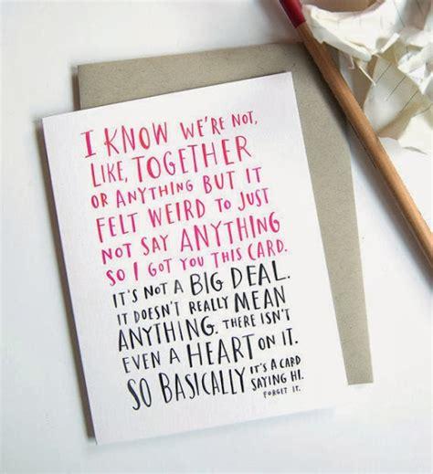 awkward valentines card awkward typographic valentine s day cards that will make