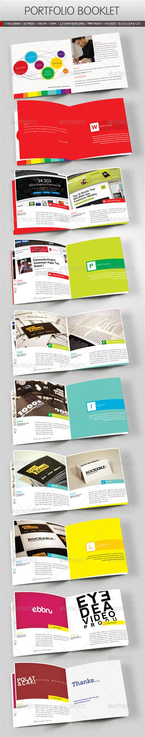 portfolio print template a5 brochure booklet template minimal portfolio 187 dondrup