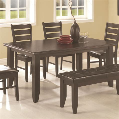 coaster page contemporary rectangular semi formal dining