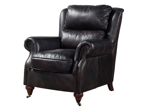 Black Leather Comfy Chair by Professor Comfy Armchair