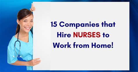 15 companies that hire nurses to work from home real
