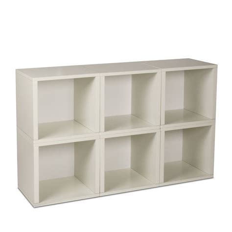 Have To Have It Way Basics Modular 6 Cube Bookcase 6 Cube Bookcase White