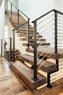 Interior Stair Rail Contemporary Stair Railing Staircase With Dark Wood Stairs