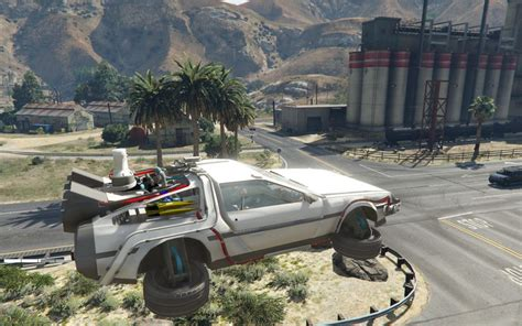 mod gta 5 delorean gta 5 funny vehicles batmobile delorean star wars