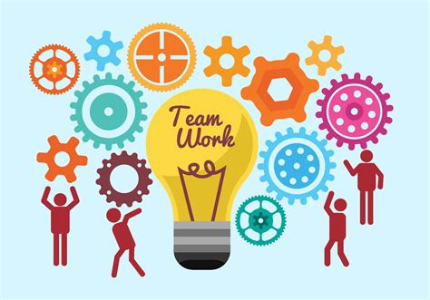 Team Work Illustration Vectors Download Free Vector Art Stock Graphics Images Free Teamwork Images
