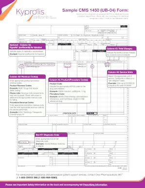 fillable online sample cms 1450 (ub 04) form: kyprolis
