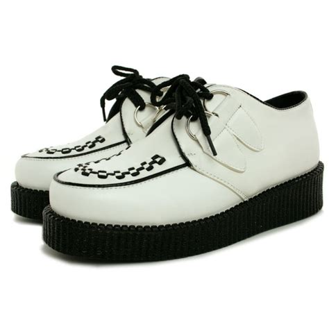 white leather style brothel creepers buy white leather