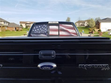 F 150 Perforated Real Flag Rear Window Decal (97 19 F 150)