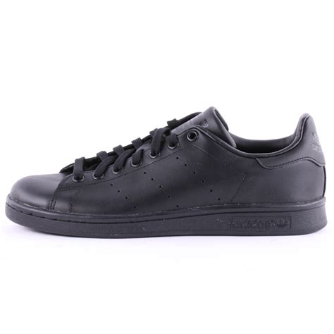 black shoes adidas stan smith mens trainers leather black black new