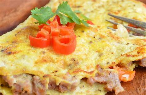 membuat omelet telur resep membuat omelet telur sayur enak nikmat