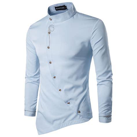 Sleeve Embroidery Shirt stylish fashion sleeve embroidery irregular lapel