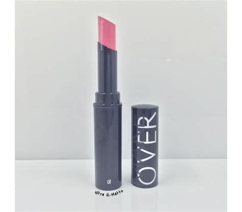 Lipstik Ultra Hi Matte Makeover halal cosmetics singapore ultra hi matte lipstick 001 king of pink makeover products make