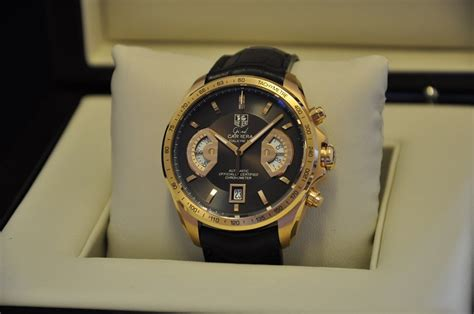 Tag Heuer Grand Calibre 8 Leather Black Gold hackett watches tag heuer grand cav514c sold 31st august 2011