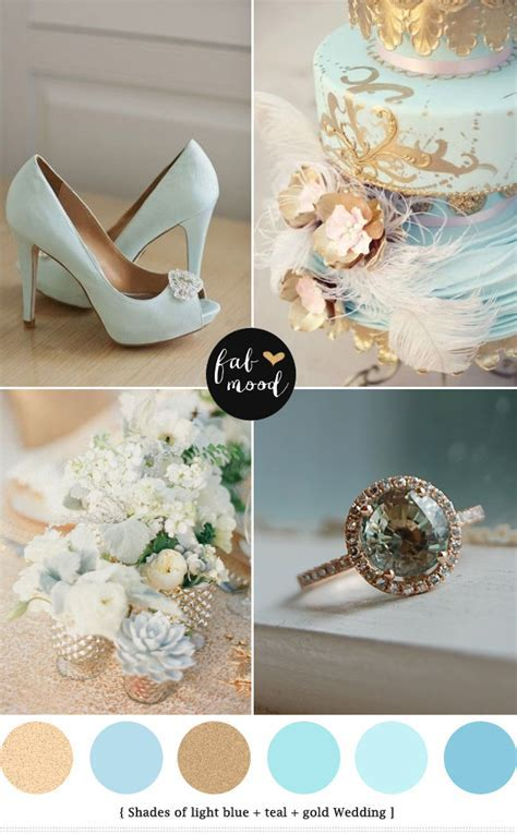 light blue and gold wedding colors,baby blue wedding palette