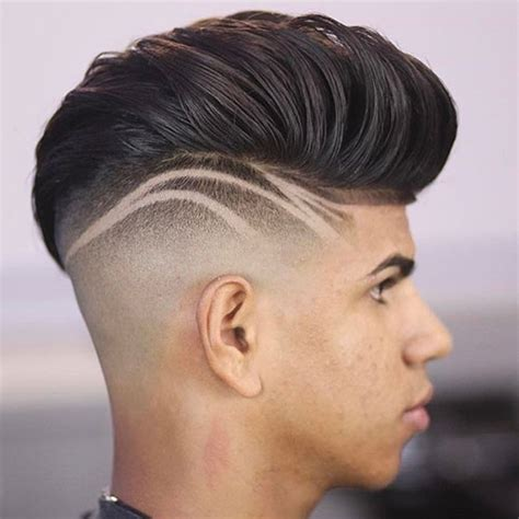 haircut designs in head haircut with lines on side haircuts models ideas