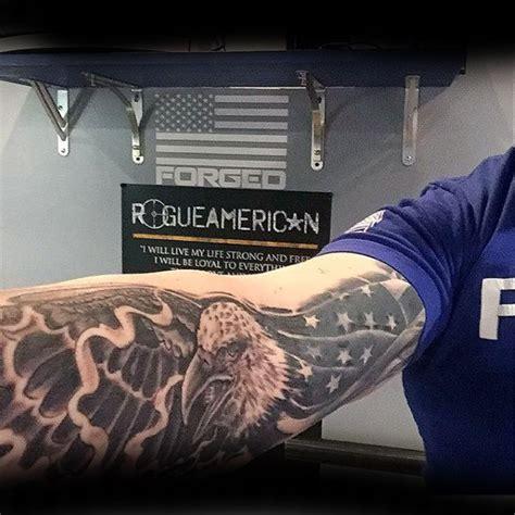 eagle tattoo inner bicep 90 patriotic tattoos for men nationalistic pride design
