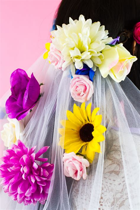 Floral Wedding Veil how to make your own floral veil bespoke wedding