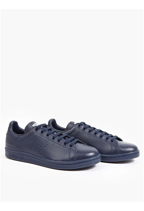 raf simons shoes blue adidas by raf simons navy stan smith sneakers in blue for lyst