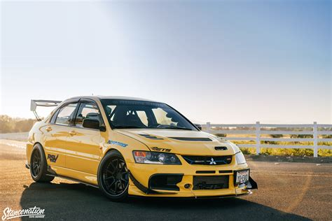 mitsubishi yellow persistance is key yovani martinez s evo viii
