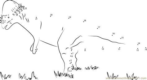 printable dot to dot dinosaurs pachycephalosaurus on grass dot to dot printable worksheet