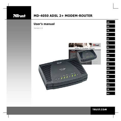 2 Modems In One House by 14954 Trust Adsl 2 Modem Router Md 4050