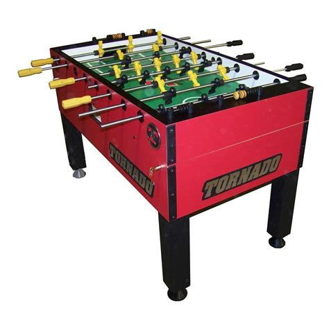 Tornado T 3000 Red Foosball Table 3 Goalie Game Room Guys Foosball Table Tornado