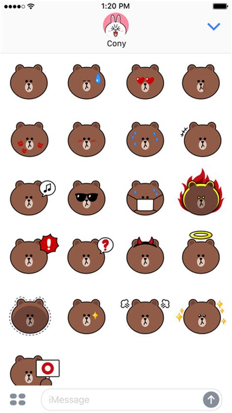 Line Friends Brown sweet brown emoji stickers line friends app