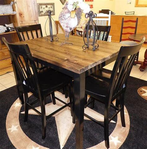 pub table with four chairs farm house pub table with four chairs repurposed table