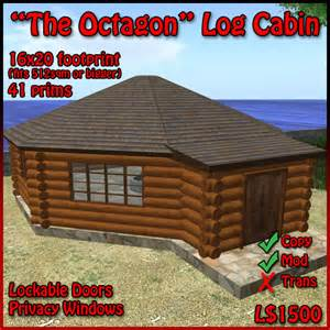 Octagon Log Homes by Pics Photos The Octagon Log Cabin 41 Prims Log Home Fits