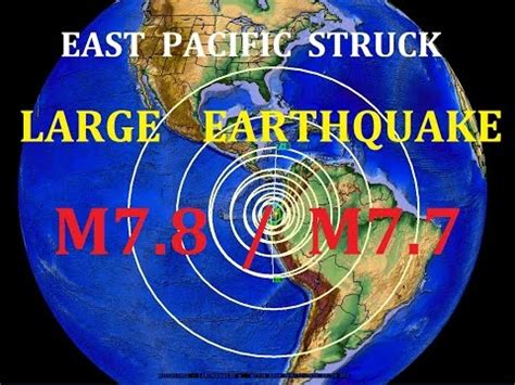 video — 4/16/2016 — large m7.8 earthquake strikes the east