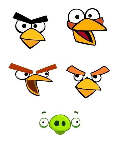 angry bird face template