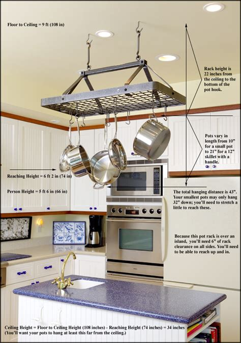 kitchen island hanging pot racks pot rack hanging on hanging pot racks