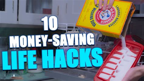 life hacks for home 10 money saving life hacks to try at home youtube