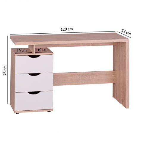 scrivanie per pc scrivania per computer natalie in legno con cassetti cm