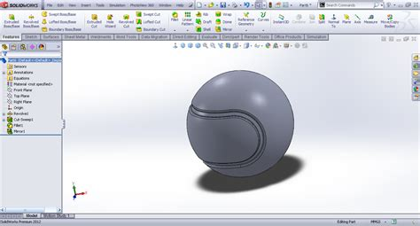 sketch pattern along curve solidworks tutorial modeling tennis ball in solidworks grabcad