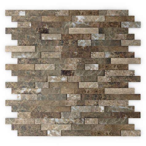 wall backsplash inoxia speedtiles bengal 11 75 in x 11 6 in stone