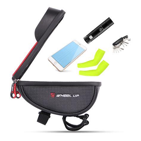mtb waterproof wheel up waterproof mtb road bike bicycle front bag