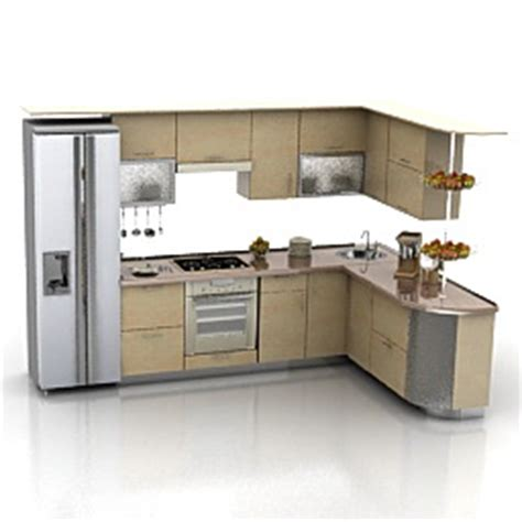 Home Office Design With Kitchen Cabinets by Kitchen Furniture 3d Models Kitchen N240311 3d Model