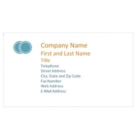 Avery Business Card Template 8376 by Free Avery 174 Template For Microsoft 174 Word 2007 Business
