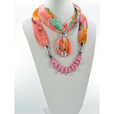 how to make jewelry scarves scarf necklace jewelry polyester summer collection