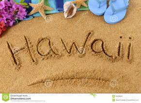 Essay About Hawaii by Hawaii Sand Word Writing Sign Stock Photo Image 50628068