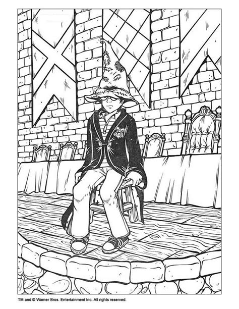 harry potter sorting hat coloring page harry potter coloring pages hellokids com